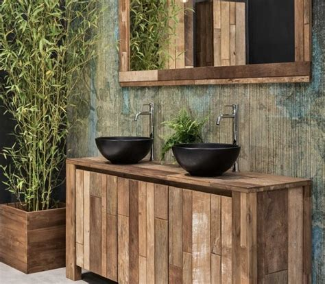arredo bagno legno naturale arredo bagno legno massello l 80 x h 75 x p 50 cm completo