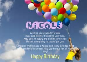 birthday congratulations for nicole