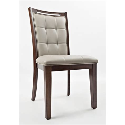 Dining Chairs Manchester Jofran Manchester Faux Leather Upholstered Dining Chair Set Of 2 1672 385kd