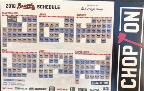 Atlanta Braves Printable Schedule
