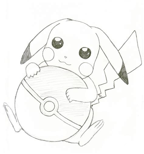 Sketches Easy To Draw by Pikachu Simple Drawing
