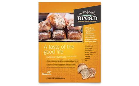 free bakery flyer templates artisan bakery flyer template design