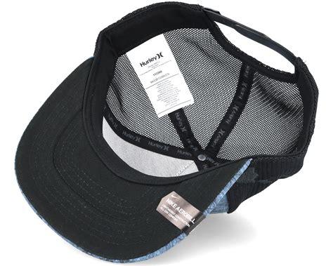 Topi Trucker Oclock Navy jjf maps trucker navy black snapback hurley caps hatstore co uk