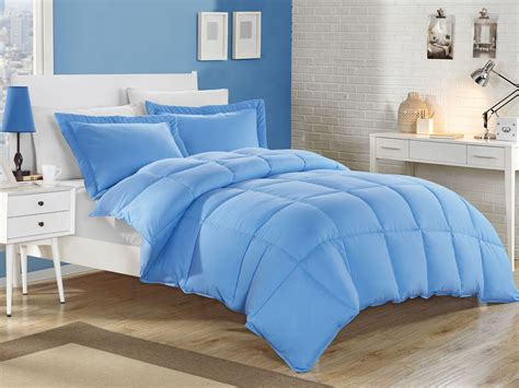blue comforters blue down alternative comforter set full queen