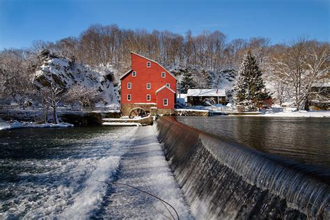 landscape photography in nj new jersey landscape winter landscape with a mill clinton new jersey