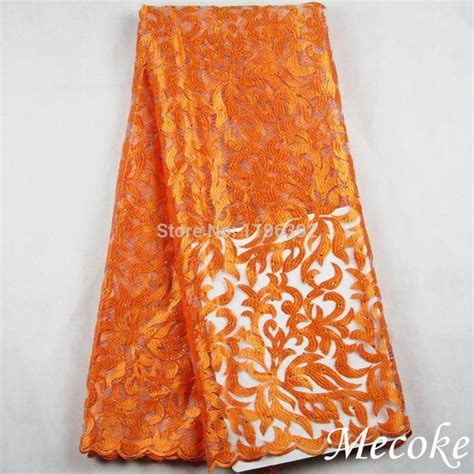 peach navy blue nigerian peach embroidery designs african cord lace cotton royal