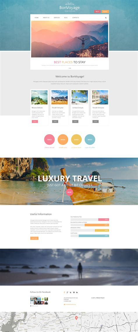 drupal themes live demo travel drupal template