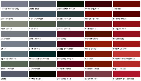 black cherry auto paint color chart hairstyle gallery