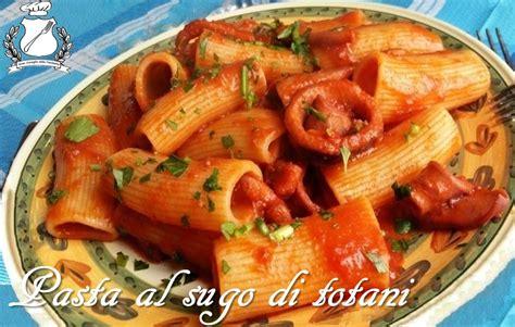 cucinare totani pasta al sugo di totani ricetta