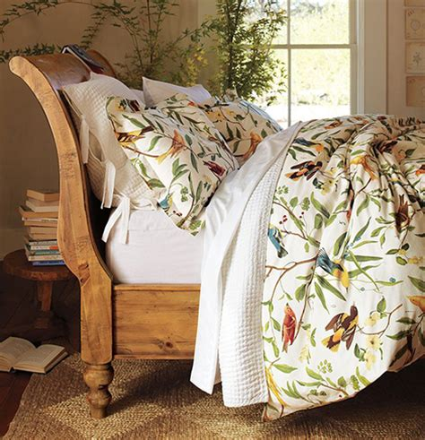 comforter with birds bird motif bedding from pottery barn
