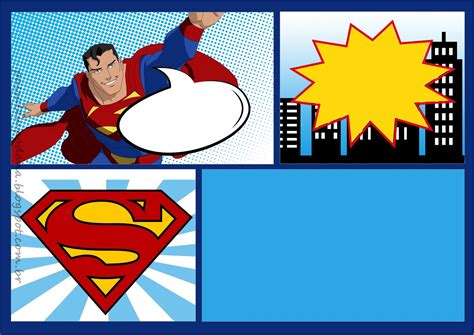 superman card template superman comic free printable kit oh my for geeks