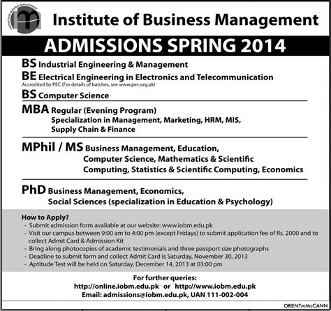 Bachelors In Engineering With Mba by Iobm Admission 2016 Bs Be Ms Mba Mphil Phd