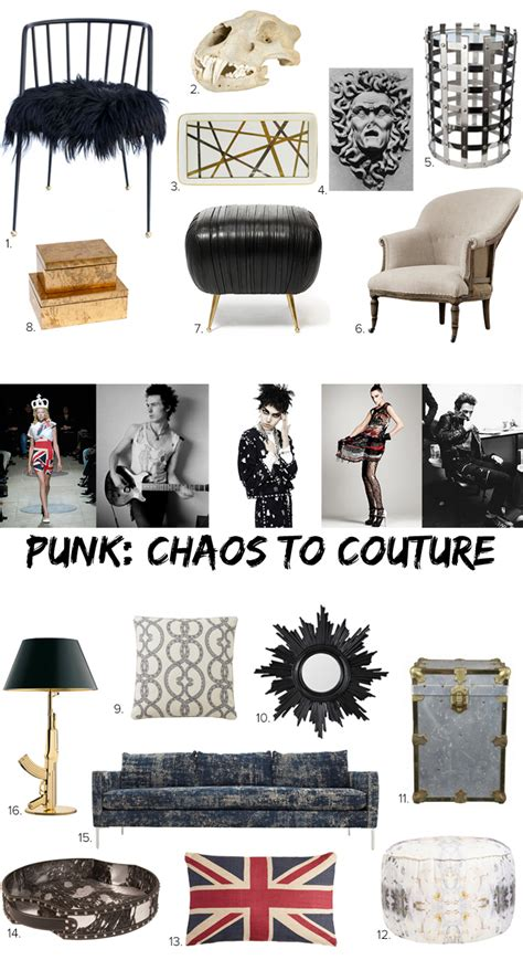 punk rock home decor style meets home punk from chaos to couture