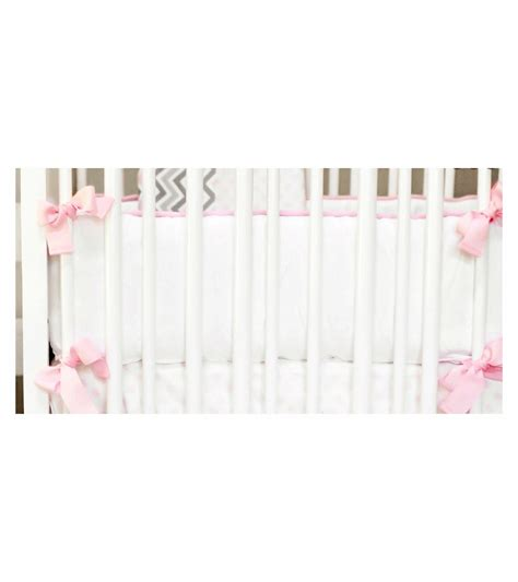 Pink Crib Bumper by New Arrivals Peace Pink Crib Bumper