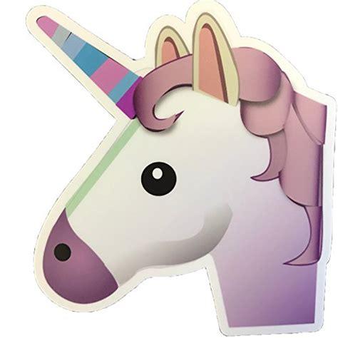 emoji unicorn large emoji stickers 4 quot premium thick durable weather
