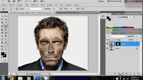 tutorial photoshop cs5 efecto explosión de cara youtube fotomontajes de la catrina hacer efecto de calavera con