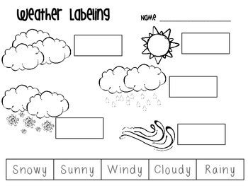 weather pattern words freebie weather labeling by shakin it up with mrs shannon