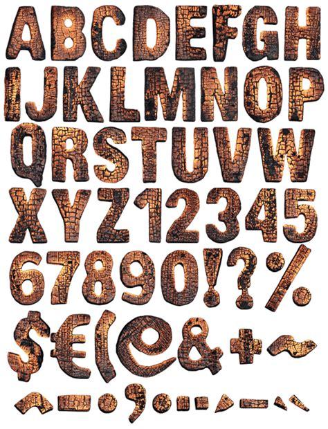 burned wood font handmadefont