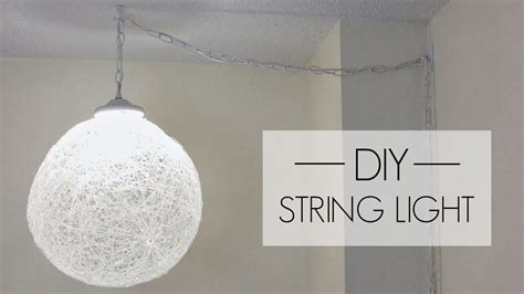 String Pendant L Diy by Diy String Pendant Light