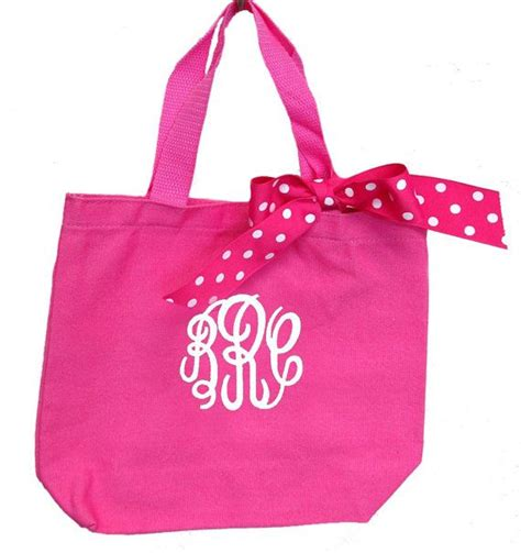 circle monogram tote bag personalized por