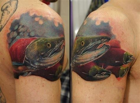 steelhead tattoo tattooed steelhead salmon ideas for me