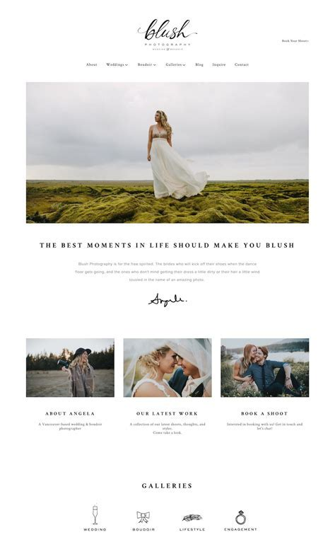 10 best example Squarespace websites ? photographer