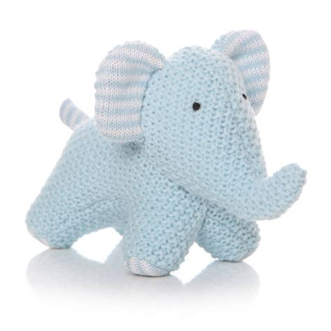 elephant comforter toy knitted elephant toy comforter by diddywear