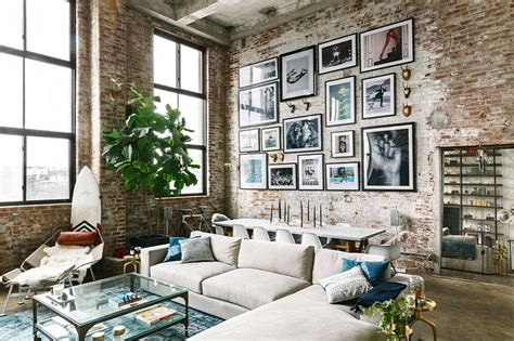 loft with aged brick concrete floors and