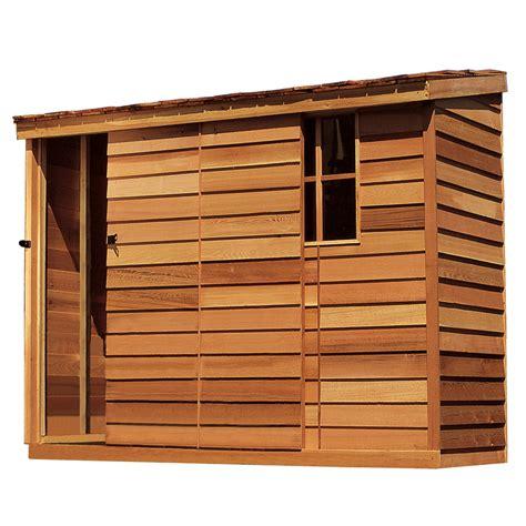 shop cedarshed yardsaver lean  cedar wood storage shed