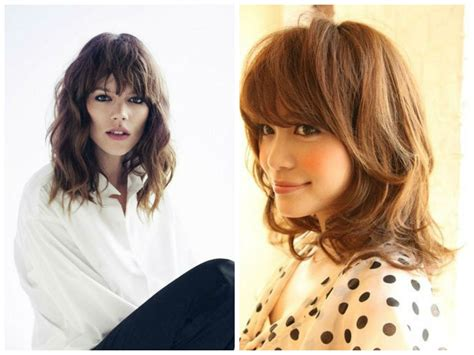 college hairstyles for layered cut mid length wavy hairstyles with bangs hairstyles