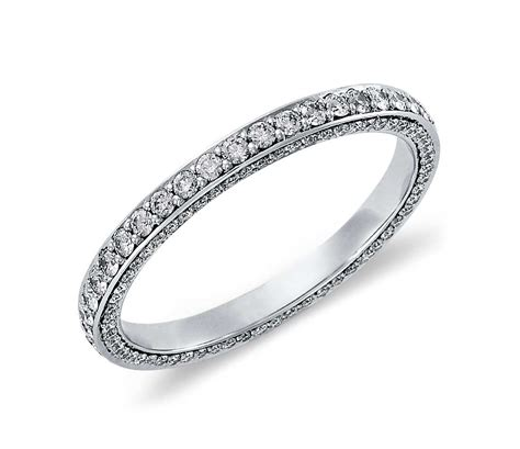 infinity twist micropav wedding ring trio micropav 233 eternity ring platinum