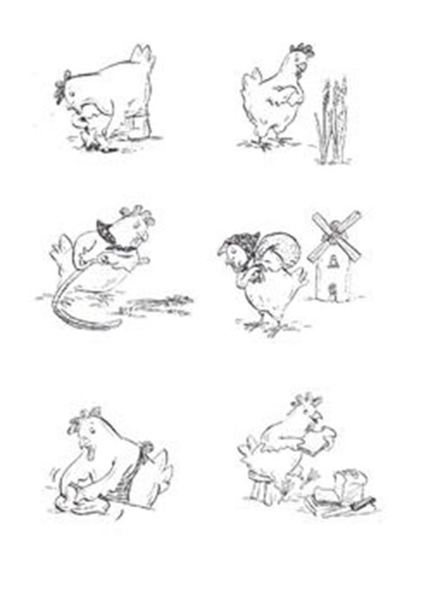 Little Red Hen black and white images | Gallinita roja