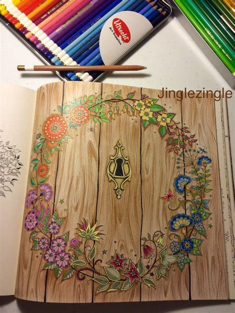 secret garden coloring book finished pages 25 best ideas about secret garden coloring book on