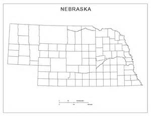 blank ne us map nebraska blank map