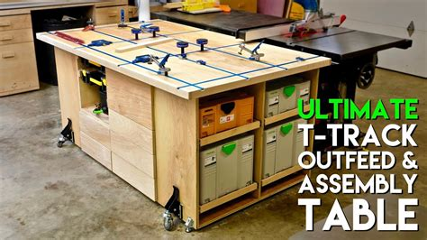 ultimate  track assembly outfeed table workbench