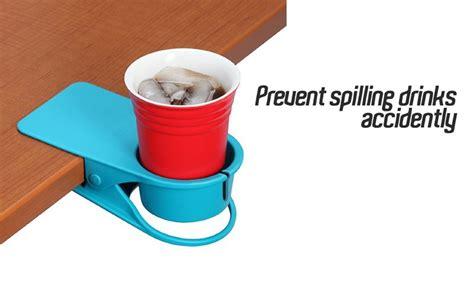 Meja Plastik Besar ukuran meja minum pemegang cangkir klip plastik besar