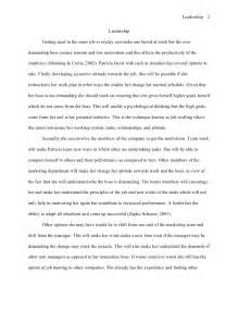 Essays On Leadership And Character apa style essay leadership essay