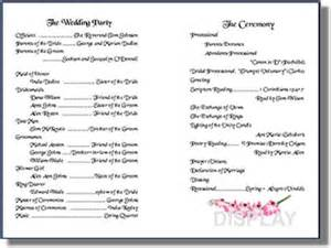 Programs For Weddings Templates Wedding Program Templates From Thinkwedding S Print Your Own Wedding Stationery Collection