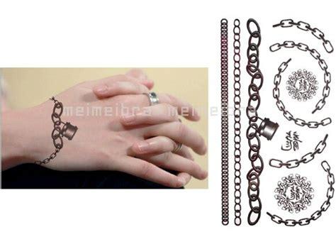 3Pcs Fashion Lock Chain Design Temporary Jewelry Tattoo Waterproof 3D Tattoos Sticker Women Body