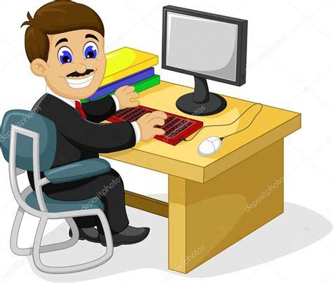 imagenes de workout dibujos animados divertido empresario trabajando en su