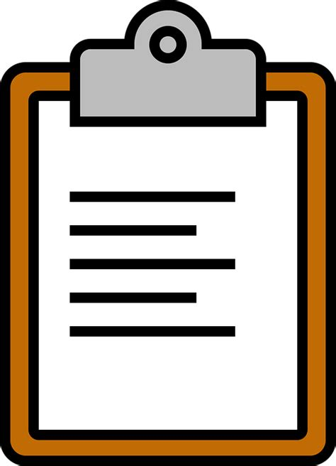 Clipboard Clipart by Icon Clipboard Paperclip 183 Free Vector Graphic On Pixabay