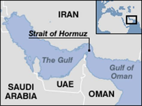 middle east map strait of hormuz news middle east us sub collides with japan ship