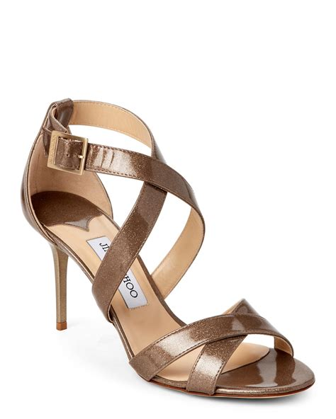 high heels jimmy choo jimmy choo louise crisscross high heel sandals lyst