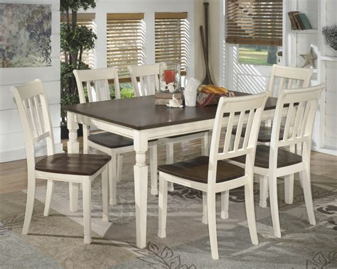 Dining Table Six Chairs Whitesburg Rectangular Dining Room Table 6 Side Chairs D583 25 02 6 Dining Room Groups