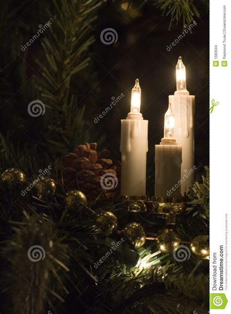 candle christmas tree lights stock images image 1583944