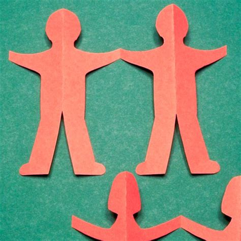 How To Fold And Cut Paper Dolls - paper chain cut out templates images