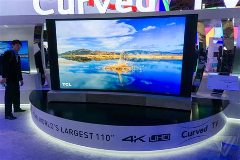 Tv Tcl 21 Inch Baru tcl s 110 inch curved 4k tv is the definition of ces spectacle the verge