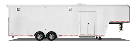 trailer white touch of class trailers categories gooseneck and