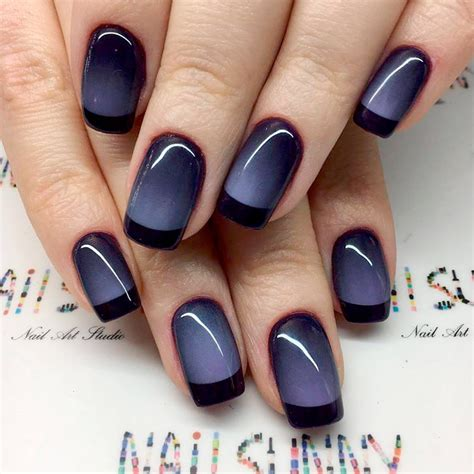 nail colors for french women fantastic black french manicure to try naildesignsjournal