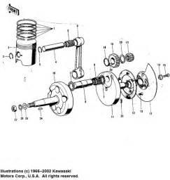 crankshaft piston rotary valve for kawasaki model quot f quot 1973 megazip shop